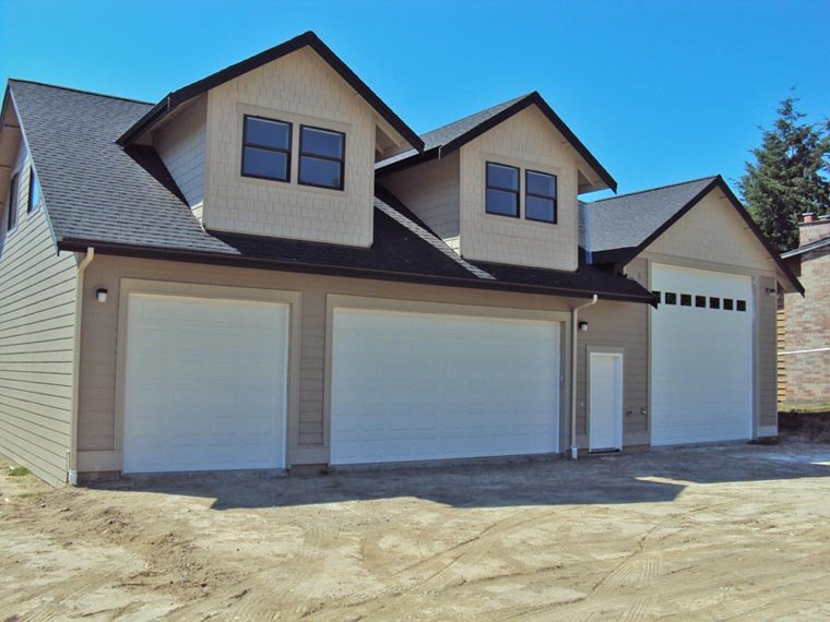 Traditional 3 Car Garage Apartment Plan 85204 with 2 Beds, 2 Baths, RV Storage Elevation