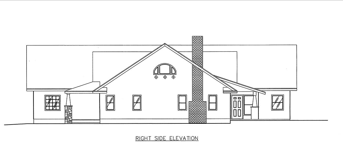 Craftsman, Ranch, Southern House Plan 85205 with 2 Beds, 3 Baths, 2 Car Garage Picture 1