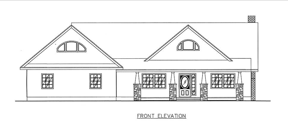 Craftsman, Ranch, Southern House Plan 85205 with 2 Beds, 3 Baths, 2 Car Garage Picture 3