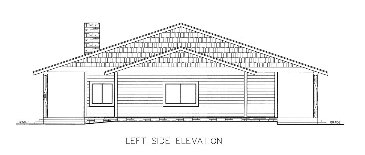 Ranch House Plan 85206 with 3 Beds, 2 Baths, 2 Car Garage Picture 2