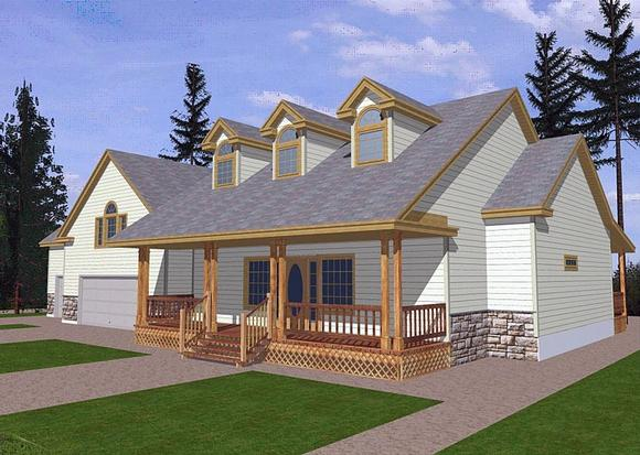 Cape Cod, Country, Traditional House Plan 85282 with 3 Beds, 2 Baths, 3 Car Garage Elevation