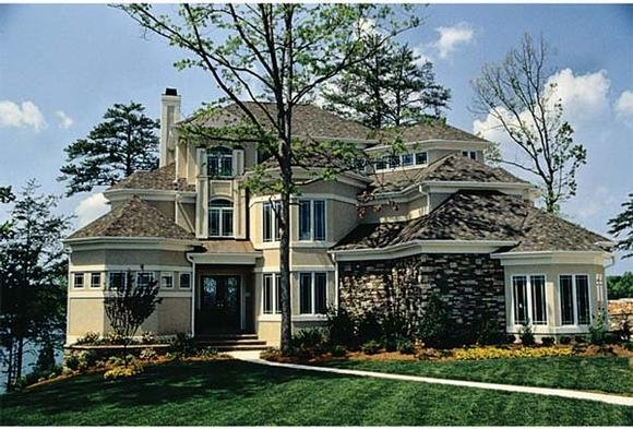Traditional House Plan 85653 with 5 Beds, 6 Baths, 2 Car Garage Elevation