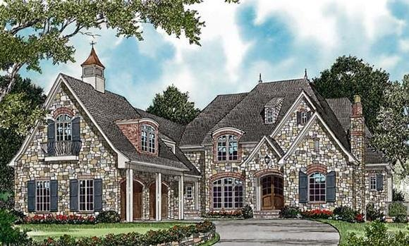 Country, European House Plan 85654 with 5 Beds, 7 Baths, 4 Car Garage Elevation