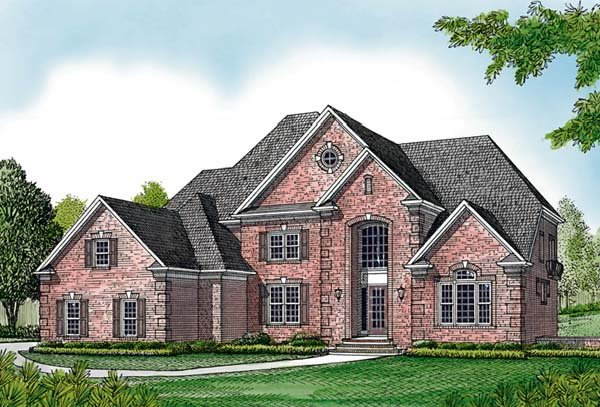 Traditional House Plan 85655 with 5 Beds, 5 Baths, 3 Car Garage Elevation