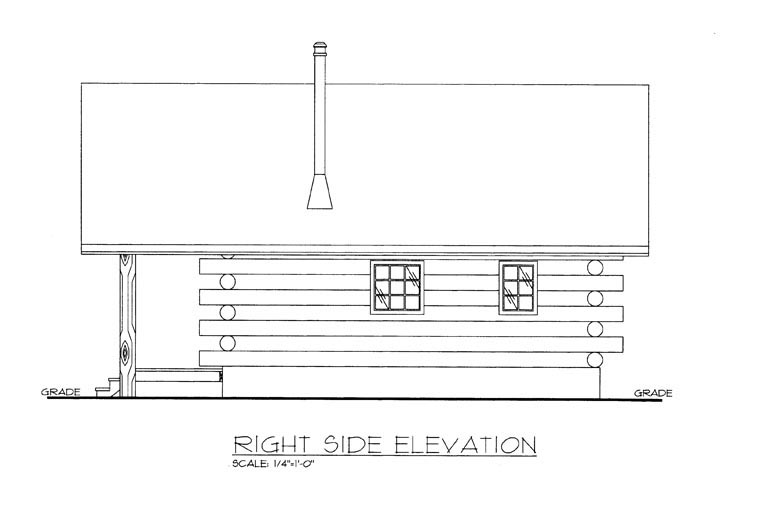 Cabin, Log House Plan 85877 Picture 2