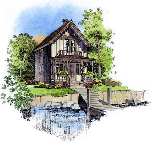 Country, Victorian House Plan 86049 with 2 Beds, 2 Baths Elevation