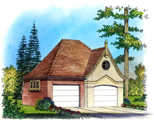 Country, Traditional, Victorian 2 Car Garage Plan 86057 Elevation