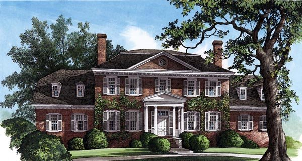 Colonial, Plantation, Southern House Plan 86126 with 4 Beds, 4 Baths, 2 Car Garage Elevation