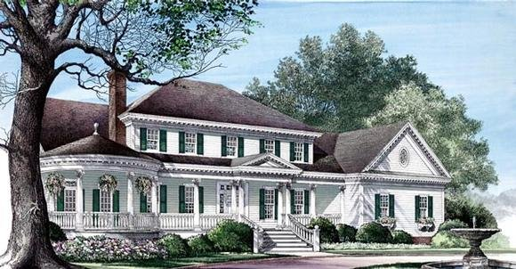Colonial, Farmhouse, Plantation, Southern, Victorian House Plan 86192 with 4 Beds, 5 Baths, 3 Car Garage Elevation
