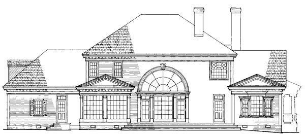Colonial, Farmhouse, Plantation, Southern, Victorian House Plan 86192 with 4 Beds, 5 Baths, 3 Car Garage Rear Elevation