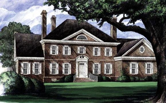 Colonial, Plantation House Plan 86207 with 4 Beds, 5 Baths, 3 Car Garage Elevation