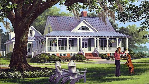 Cottage, Country, Farmhouse, Traditional House Plan 86226 with 4 Beds, 3 Baths, 2 Car Garage Elevation