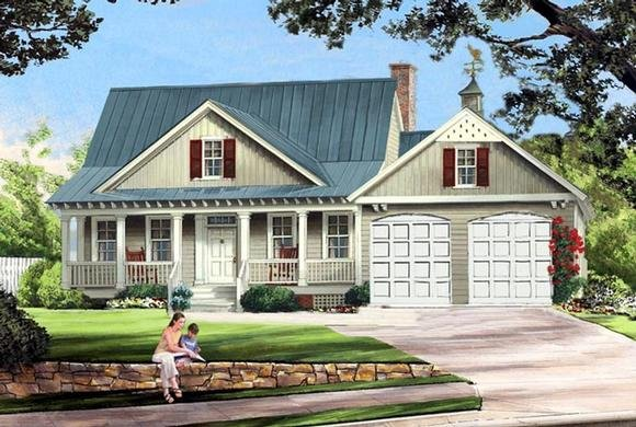 Cottage, Country, Farmhouse House Plan 86341 with 3 Beds, 3 Baths, 2 Car Garage Elevation