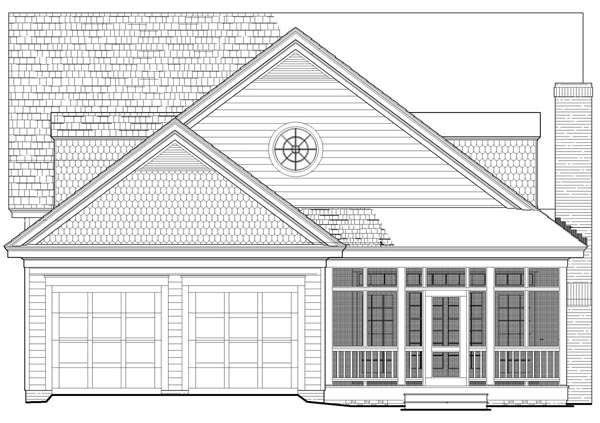 Bungalow, Cottage, Country, Craftsman House Plan 86346 with 5 Beds, 4 Baths, 2 Car Garage Rear Elevation