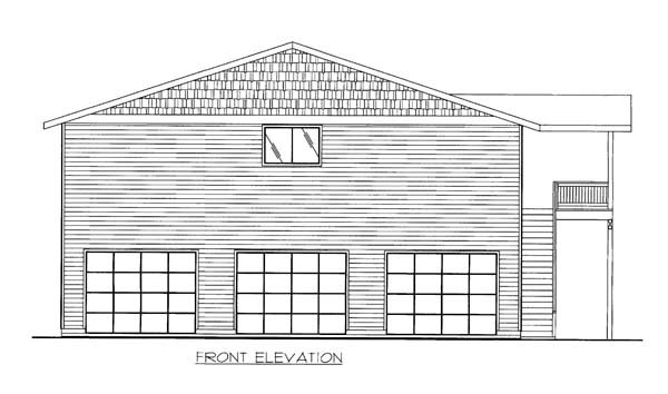 5 Car Garage Apartment Plan 86554 with 2 Beds, 3 Baths Elevation