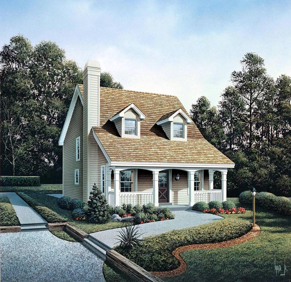 Cabin, Cape Cod, Cottage, Country House Plan 86973 with 3 Beds, 3 Baths Elevation