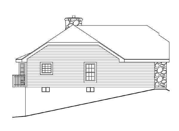 Cabin, Cottage, Country, Ranch House Plan 86986 with 2 Beds, 2 Baths, 1 Car Garage Picture 1