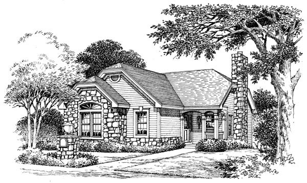 Cabin, Cottage, Country, Ranch House Plan 86986 with 2 Beds, 2 Baths, 1 Car Garage Picture 3