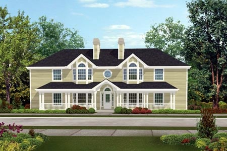 Country Multi-Family Plan 87348 with 4 Beds, 4 Baths Elevation