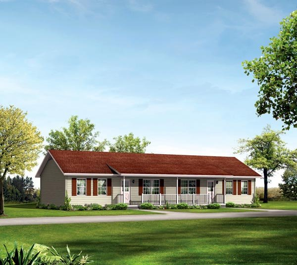 Ranch Multi-Family Plan 87367 with 4 Beds, 2 Baths Elevation