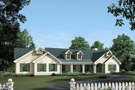 Country House Plan 87387 with 3 Beds, 2 Baths, 2 Car Garage Elevation