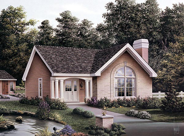 Country House Plan 87392 with 3 Beds, 2 Baths Elevation