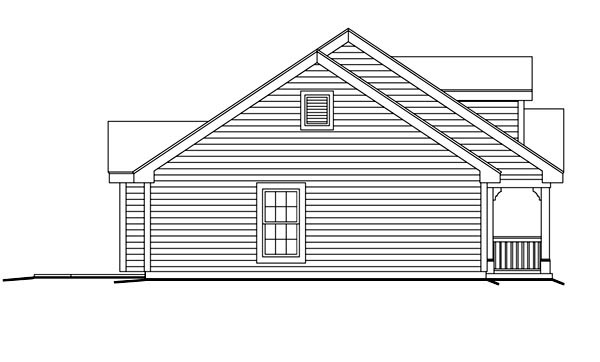 Cape Cod, Country, Ranch House Plan 87398 with 3 Beds, 2 Baths, 1 Car Garage Picture 1
