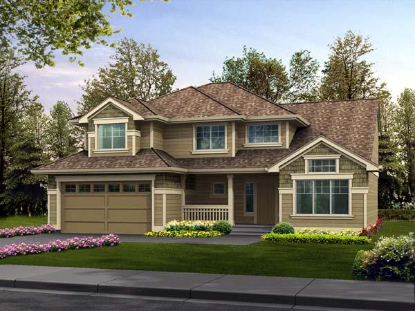 Traditional House Plan 87506 with 4 Beds, 4 Baths, 2 Car Garage Elevation
