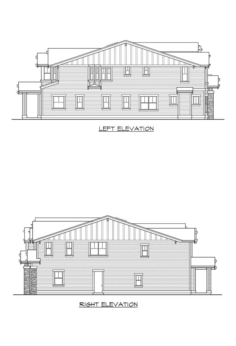 Craftsman House Plan 87671 with 5 Beds, 5 Baths, 3 Car Garage Picture 9