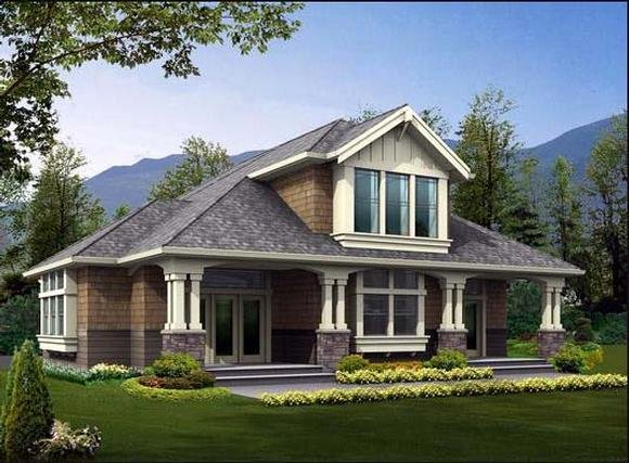 Craftsman House Plan 87680 with 3 Beds, 2 Baths Elevation