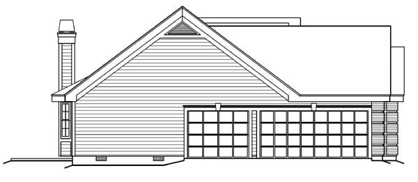Cape Cod, Country, Ranch, Southern, Traditional House Plan 87817 with 4 Beds, 3 Baths, 3 Car Garage Picture 1