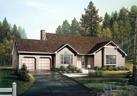 Plan Number 87821 - 1540 Square Feet