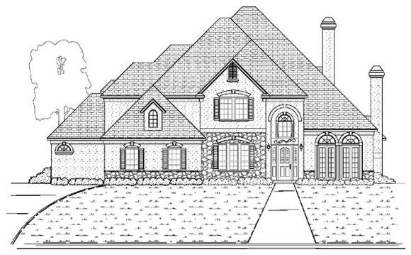 European House Plan 87932 with 4 Beds, 4 Baths, 3 Car Garage Elevation