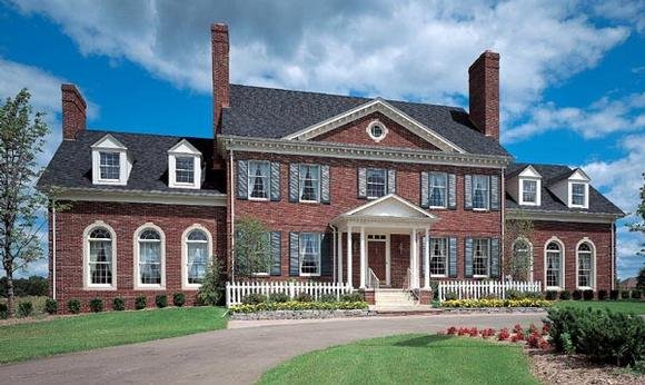 Colonial, Plantation House Plan 90297 with 4 Beds, 3 Baths, 2 Car Garage Elevation