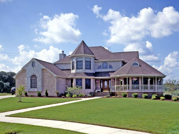 Victorian House Plan 90602 with 4 Beds, 3 Baths, 2 Car Garage Elevation
