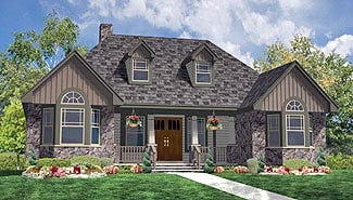 Country, Farmhouse, Ranch, Southern House Plan 90655 with 3 Beds, 2 Baths, 1 Car Garage Elevation