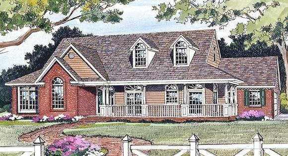 Country, Farmhouse, Ranch House Plan 90663 with 4 Beds, 3 Baths, 2 Car Garage Elevation
