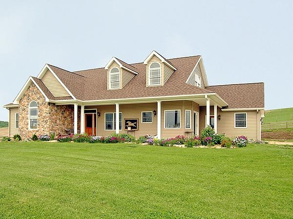 Country, Farmhouse, Ranch House Plan 90663 with 4 Beds, 3 Baths, 2 Car Garage Picture 2