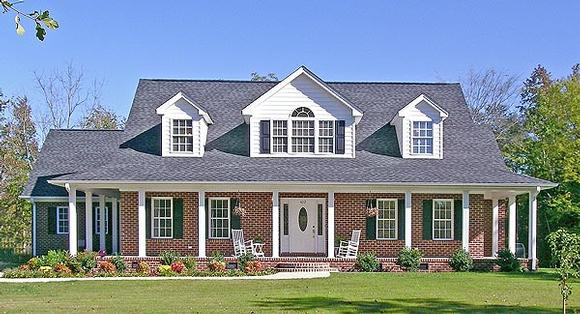 Country, Farmhouse, Ranch House Plan 90665 with 5 Beds, 4 Baths, 2 Car Garage Elevation