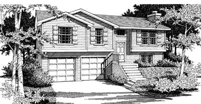 Traditional House Plan 90704 with 3 Beds, 2 Baths, 2 Car Garage Elevation