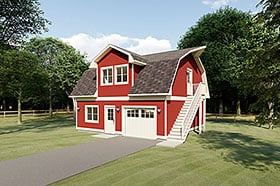 Plan Number 90884 - 614 Square Feet
