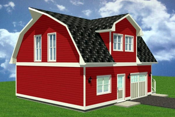 1 Car Garage Apartment Plan 90884 with 1 Beds, 1 Baths Picture 1