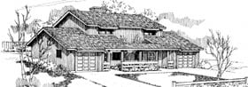 Ranch Multi-Family Plan 91325 with 6 Beds, 4 Baths, 2 Car Garage Elevation