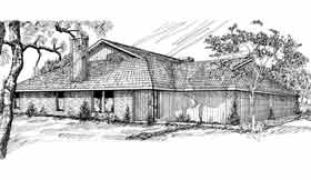 Plan Number 92222 - 1317 Square Feet