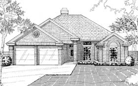 Traditional House Plan 92239 with 3 Beds, 2 Baths, 2 Car Garage Elevation