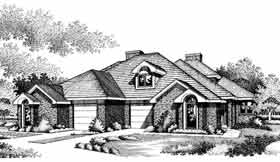 European, French Country Multi-Family Plan 92294 with 5 Beds, 4 Baths, 2 Car Garage Elevation