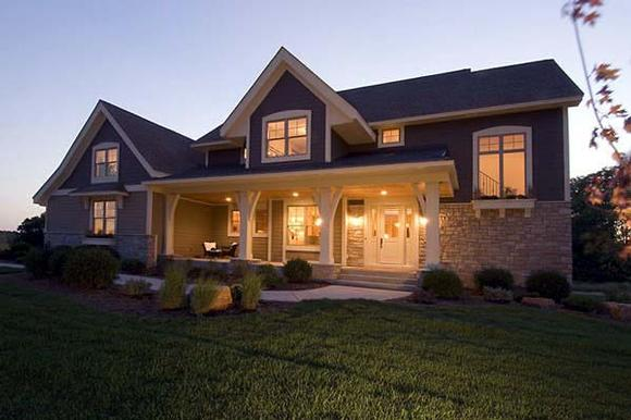 House Plan 92309 with 4 Beds, 4 Baths, 3 Car Garage Elevation