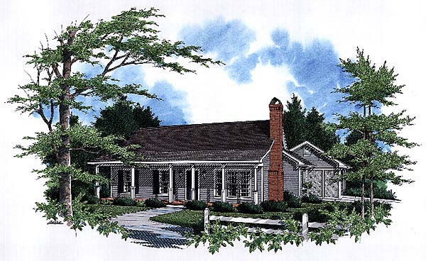Cabin, Country House Plan 93453 with 3 Beds, 2 Baths, 2 Car Garage Elevation