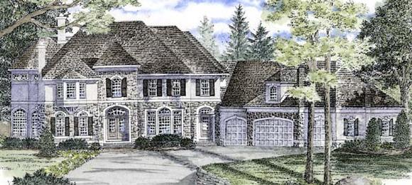 Traditional House Plan 94172 with 4 Beds, 6 Baths, 4 Car Garage Elevation