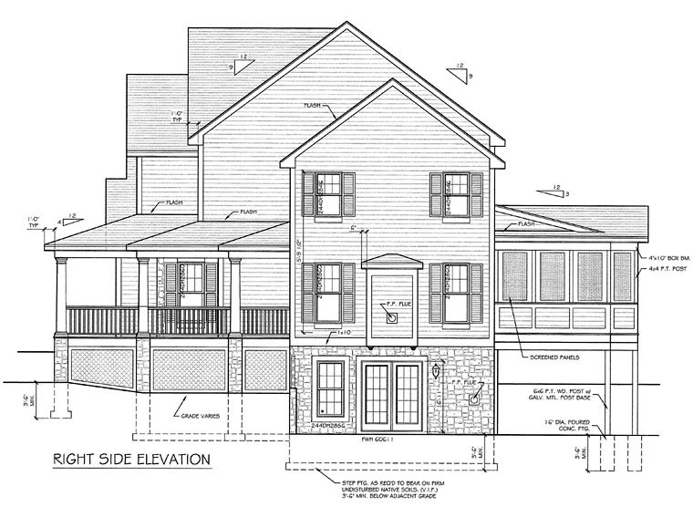 Country, Farmhouse House Plan 94178 with 3 Beds, 3 Baths, 3 Car Garage Picture 1